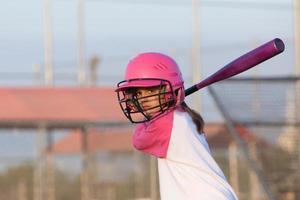 Little Girl Baseball Batter photo