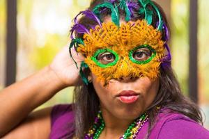 Masked Mardi Gras woman