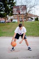 Basketball action photo