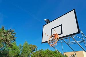 broken hoop and blue sky photo