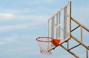 Close up of a basketball hoop photo