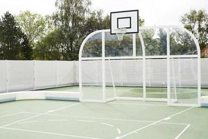 Basketball court and all weather pitch