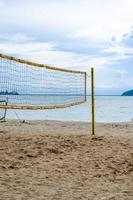 net of volley ball on the beach