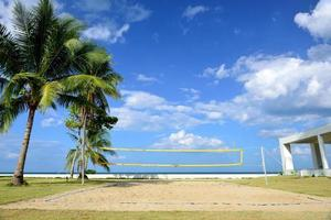 The beach volleyball field.