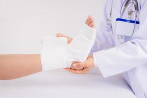 Bandaging foot photo