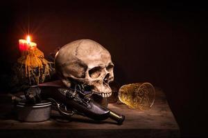 crâne de nature morte