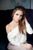Woman, shoot in studio photo