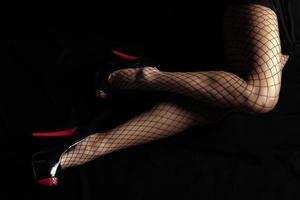 Legs of woman photo