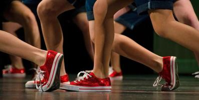 Feet of hip-hop dancers