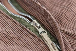 Close up zip photo