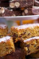 Cakes close up photo
