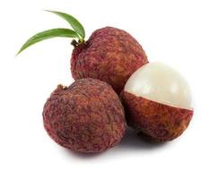 close up red lychee