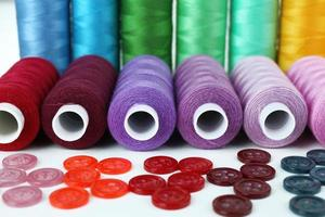 Sewing accessories close up photo