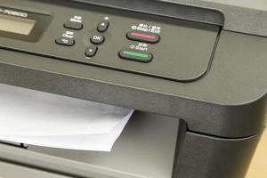 Close-up of printer photo