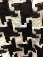 Houndstooth Fabric Close-Up