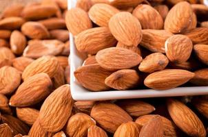 Close up to almonds
