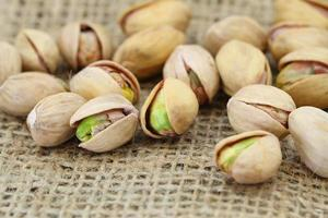 Pistachio nuts, close up
