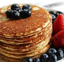Pancakes stack Close up