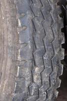 Car tire close - up photo