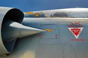 Fighter jet close up photo