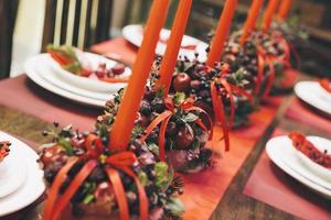 Holiday Table Close Up photo