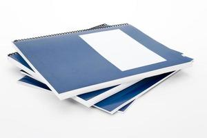 livro escolar azul