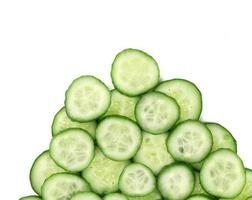 Close up of cucumbers.