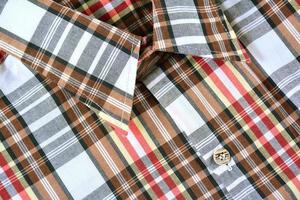 Close up plaid shirt.