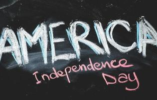 Independence day chalkboard background photo