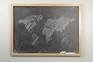 Chalkboard World Map photo