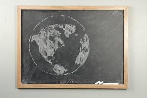 Chalkboard World Globe photo