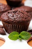 Chocolate muffin close-up