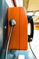 Close up pay phone