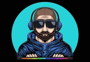 Man Gaming Illustration vector