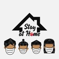 Stay at Home Covid Protection Poster