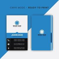 Vertical Business Card with Horizontal Blue Border vector