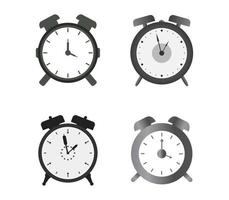 Set Of Alarm Clock Icons