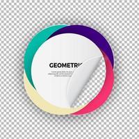 Circular Geometric Shape on Transparent Background vector