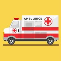 Flat ambulance paramedic vehicle