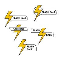 flash sale label icon collection vector