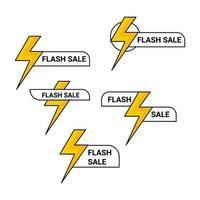 colección de iconos de etiqueta de venta flash