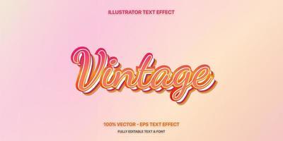 redigerbar texteffekt - retro textstil