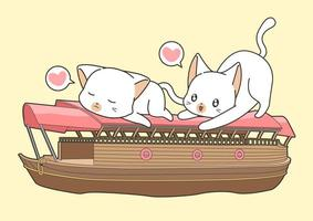 Adorable Cat Friends On Boat