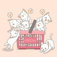 Adorable Cats In A Basket
