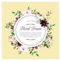 suave marco floral dibujado a mano con rosas
