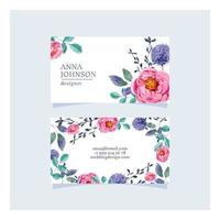 Sweet Floral Business Card Template vector