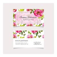 Magenta Hand Drawn Floral Business Card