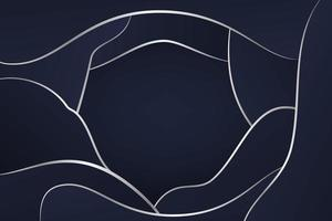 Dark Blue Abstract Background with Silver Lines vector
