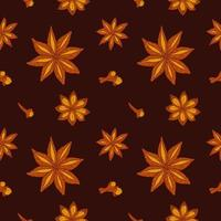 Bakery Spices Seamless Pattern vector