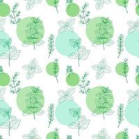 patrones sin fisuras con hierbas vector
